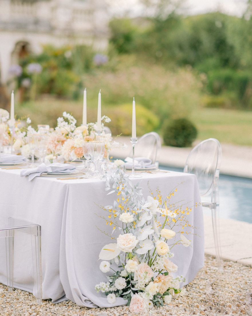 Table de mariage Chateau Mader